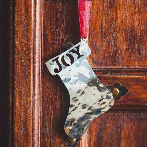 Santa's Boot - Stainless Steel Ornament