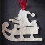 Santa Claus # 3 - Stainless Steel Ornament