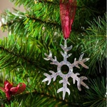 Snowflake # 4 - Stainless Steel Ornament