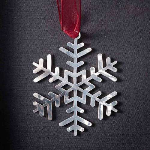 Snowflake # 2 - Stainless Steel Ornament