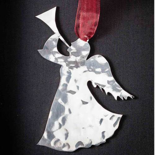 Angel with Trumpet - Stainless Steel Ornament