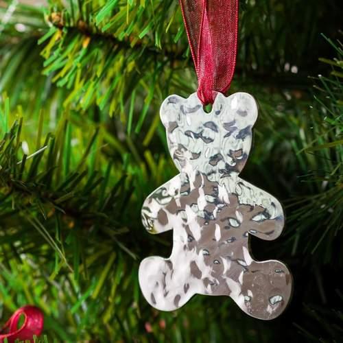 Teddy Bear - Stainless Steel Ornament