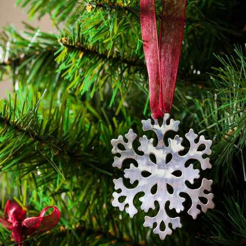 Snowflake # 3 - Stainless Steel Ornament