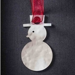 Snowman - Stainless Steel Ornament