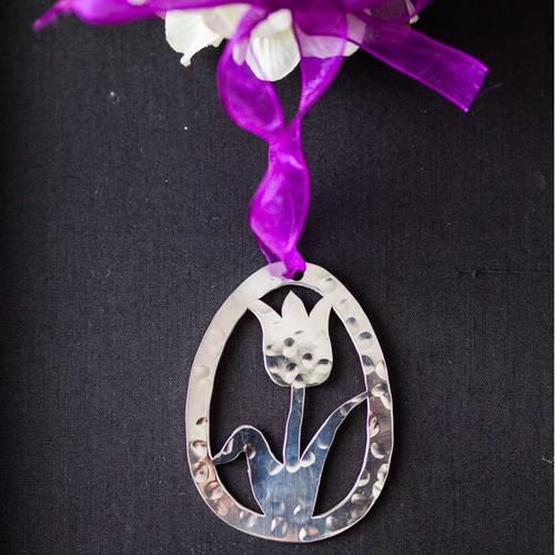 Easter - Tulip Egg - Stainless Steel Ornament