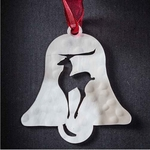 Bell with Reindeer - Stainless Steel Ornament
