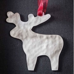 Moose - Stainless Steel Ornament