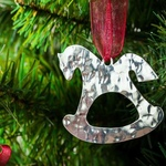 Rocking Horse - Stainless Steel Ornament