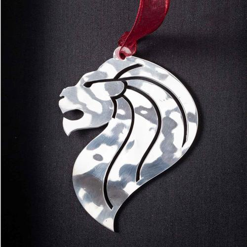 Lion Head - Stainless Steel Ornament
