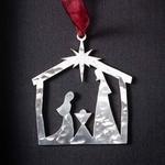 Nativity Scene - Stainless Steel Ornament