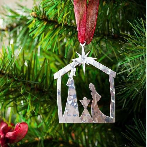 Nativity Scene - Stainless Steel Ornament
