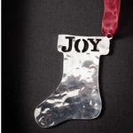Santa's Boot - Stainless Steel Ornament