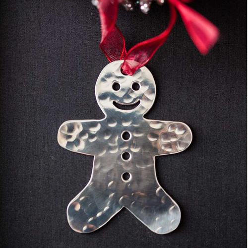 Gingerbread man - Stainless Steel Ornament