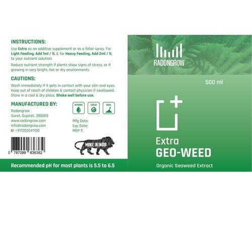 Radongrow GEOWEED Seaweed +Amino Acid 500 ml