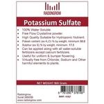 POTASSIUM SULFATE 900 gm
