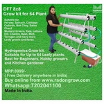 DFT 64 Plants 8x8 Hydroponic System