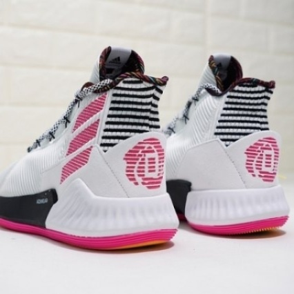 Adidas D Rose 9 White Black Pink Release