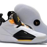 Mens Air Jordan XXXIII 33 White black yellow Baske