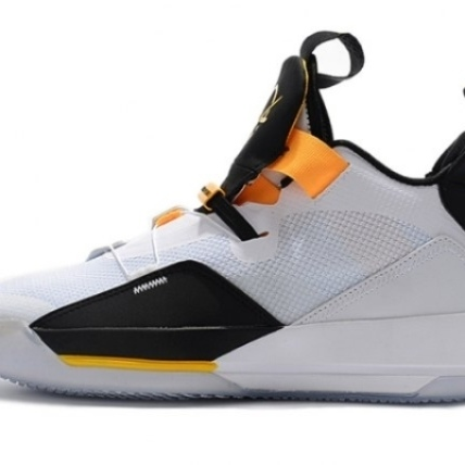Mens Air Jordan XXXIII 33 White black yellow Baske