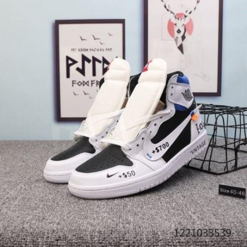 "Air Jordan 1 ""Resell Me"" White black royal blue or"