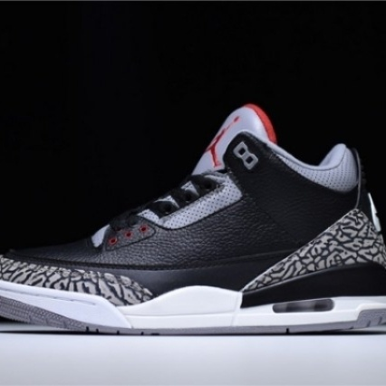 Mens Shoes Nike Air Jordan 3 Retro Black Cement 85