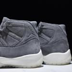 Mens Shoes Nike Air Jordan 11 Retro PREM GREY SUED