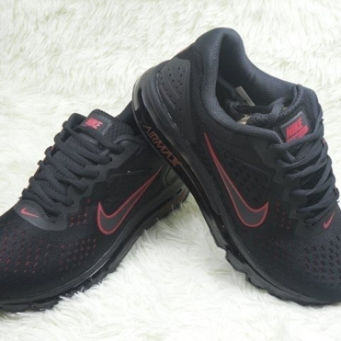 Mens Nike Air Max 2019 Sneakers Black Red NIKE-ND0