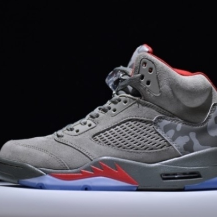 Mens Shoes Nike Air Jordan 5 Retro CAMO TROPHY ROO