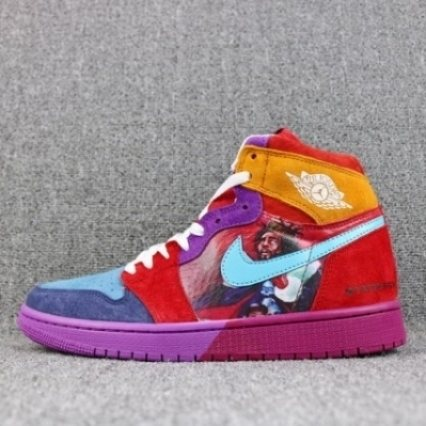 AIR JORDAN 1 Pirate Water Blue Purple Red Yellow