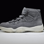 Mens Shoes Nike Air Jordan 11 Retro PREM GREY SUED