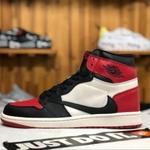 Air Jordan 1 Barb Black red white Mens Womens Snea