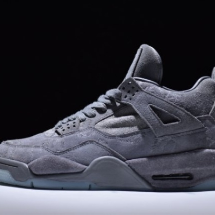 Mens Shoes Nike Air Jordan 4 Retro Cool Grey White