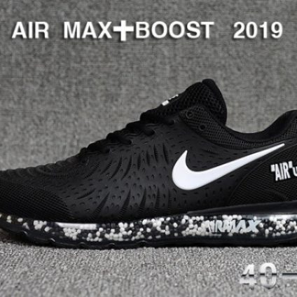 Nike Air Max + Boost 2019 Black white Mens Winter