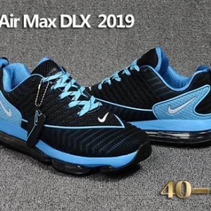 Mens Nike Air Max DLX 2019 Running Shoes Black Blu