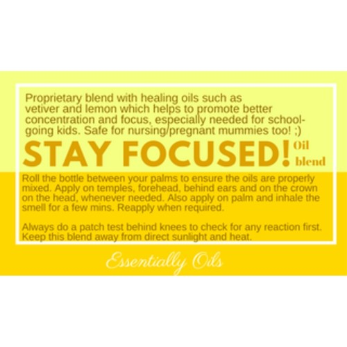 Stay Focus - Focus Oil Blend 15ml