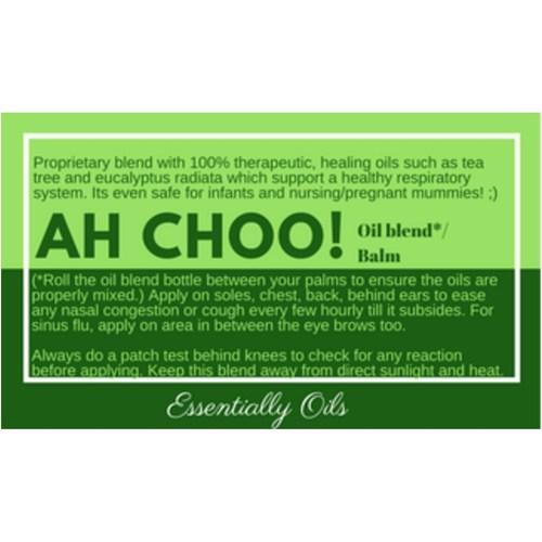 Ah Choo - Respiratory Diffusing Blend 15ml