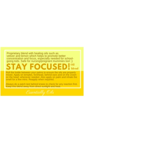Stay Focus - Focus Oil Blend 30ml