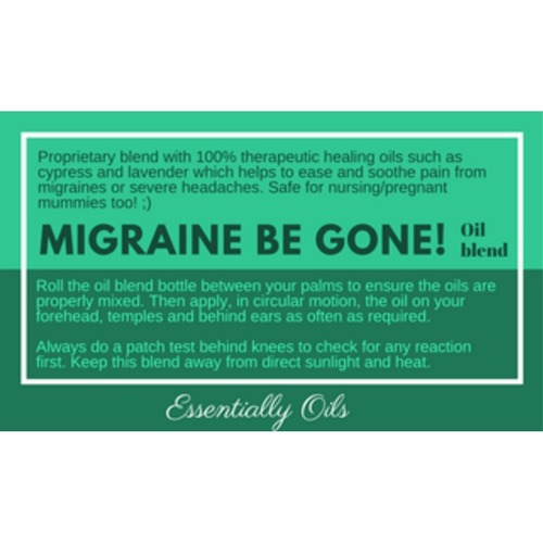 Migraine Buster - Migraine Oil Blend 30ml