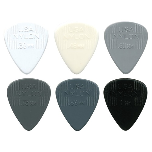 Jim Dunlop Nylon Standard 44 Guitar Picks (12pc)