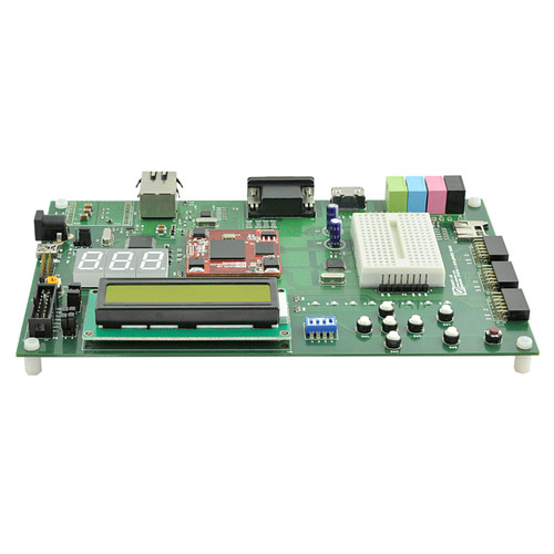 Spartan 6 FPGA Development Board including DDR SDRAM, 100M Ethernet, AC97 codec and DVI-D