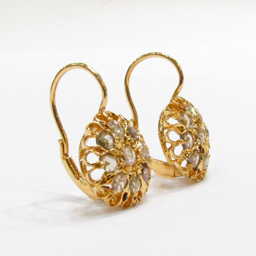 RC/ERE 17     ROSECUT DIAMOND EARRING