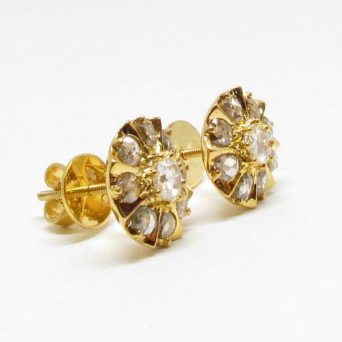 RC//ER 21     ROSECUT DIAMOND EARRING