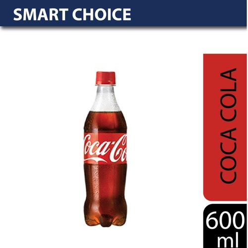 oca Cola Soda, 600 ml PET Bottle