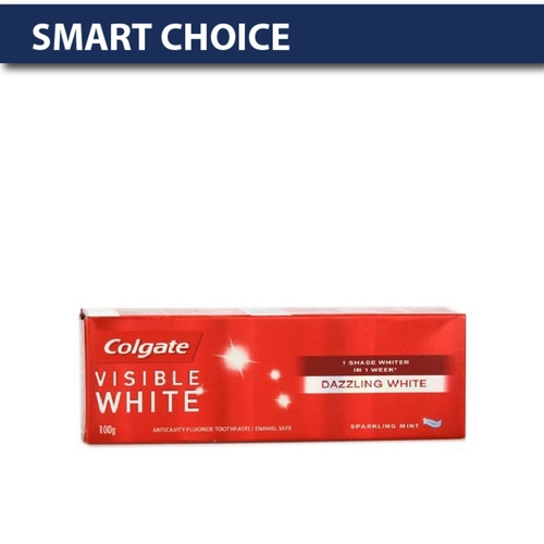 COLGATE VISIBLE WHITE SPARKLING MINT TOOTH PASTE 100GM