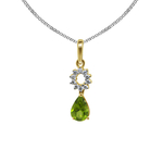 2 pairs of daily wear diamond gemstuded pendant and matching simple earrings