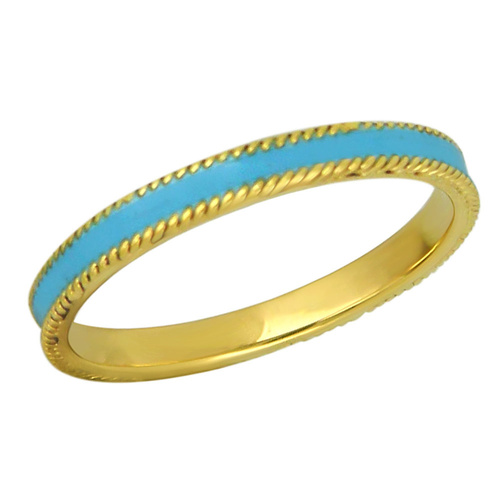 Enamel and solitaire bands , A set of 3 stackable rings suitable for everyday wear