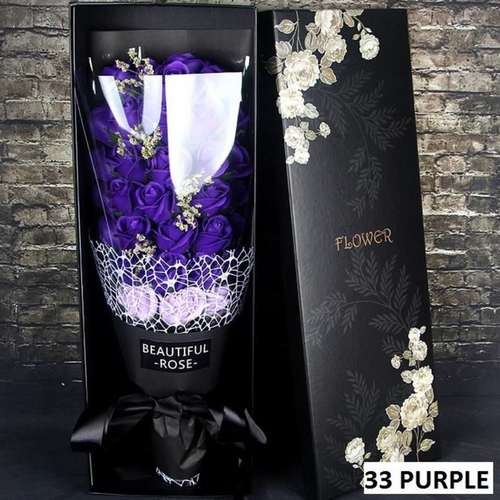 33 Purple flower bouquet