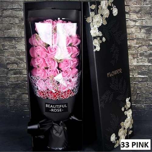 33 Pink flower bouquet