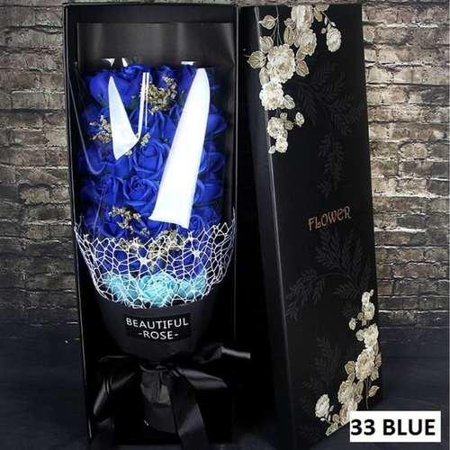 33 Blue Flower bouquet