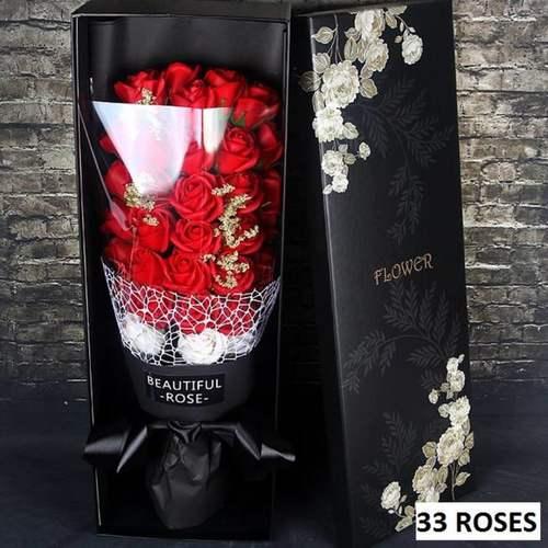 33 Red flower bouquet